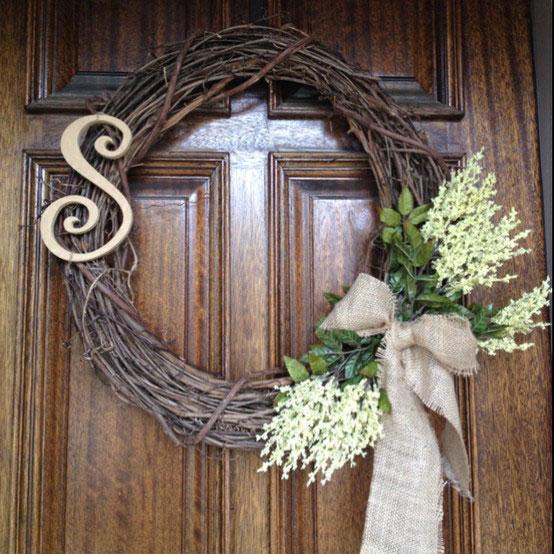 Diy puertas tambi n en verano bonitas wedding planner - Coronas de navidad para puertas ...